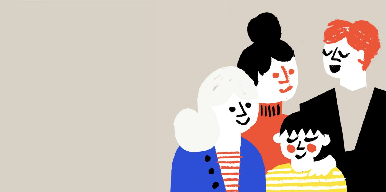 Familie Zeichnung